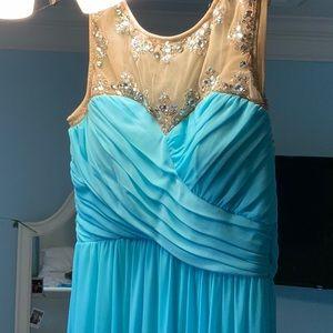Baby Blue Gemstone Dress